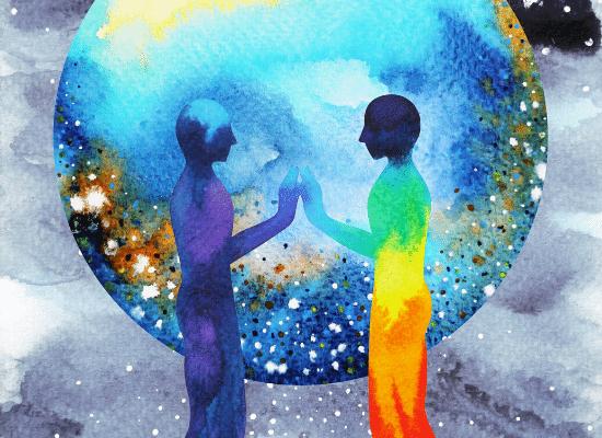 טיפול באמנות, צבעים, עולם
